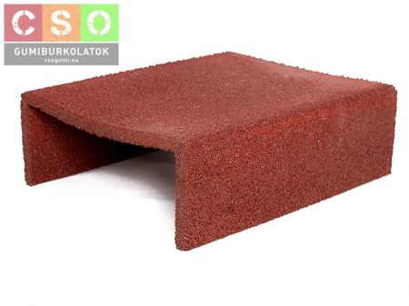U Homokozó gumiprofil vörös 500x400x150mm