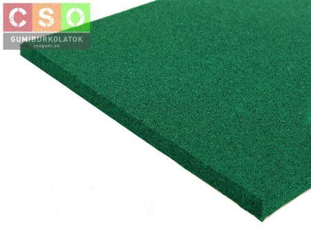 II. osztályú 20x500x500mm zöld gumilap