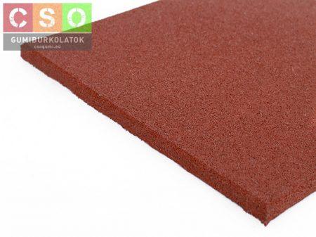 II. osztályú 20x500x500mm vörös gumilap