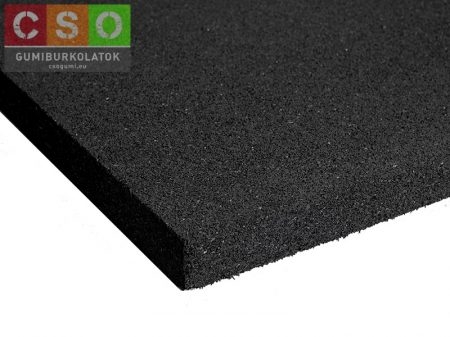 II. osztályú Crossfit gumilap 30x1000x1000mm fekete