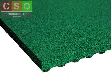 II. osztályú 50x500x500mm zöld esésvédő gumilap