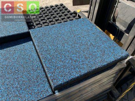 II. osztályú 60x500x500mm szórt kék esésvédő gumilap EPDM-MIX