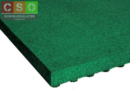 II. osztályú 60x500x500mm zöld esésvédő gumilap