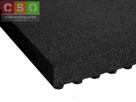II. osztályú 80x500x500mm fekete esésvédő gumilap