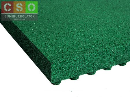 II. osztályú 80x500x500mm zöld esésvédő gumilap