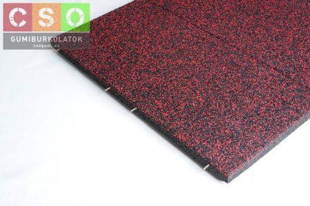 II. osztályú 50x1000x1000mm szórt vörös Crossfit-50 gumilap
